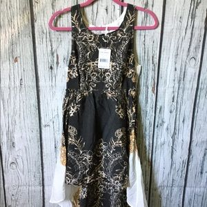Free People Brown Combo High Low Dress sz S